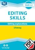 Editing Explanations – Year 1 – 2 ebook