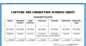 Writing Game: Capture the Correction (Editing)