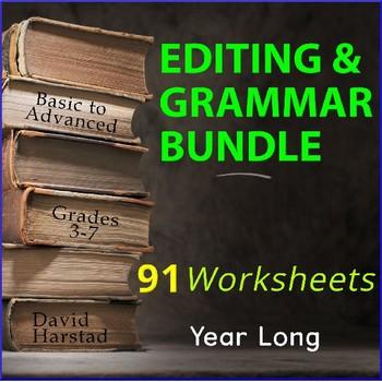 Editing and Proofreading Worksheets   Grammar Worksheets (Gr. 3-7)
