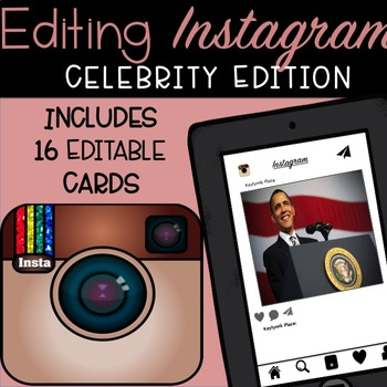Editing Instagram (Celebrity Edition)