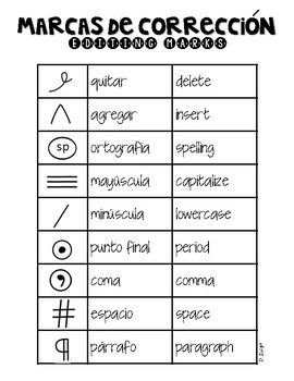 Editing Marks-Bilingual