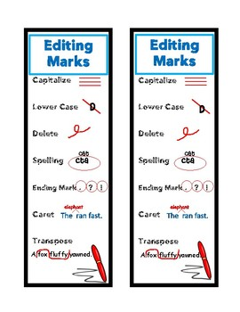 Editing Marks Bookmark