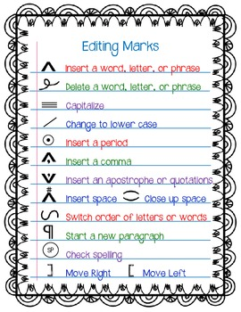 graphic about Editing Marks Printable named Modifying Marks Freebie through A Understanding Affair Academics Fork out