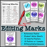 Editing Marks: Posters, Notes & Differentiated Quizzes