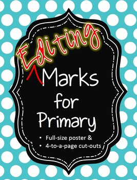 Editing Marks for Primary