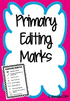 Primary Editing Marks for Writer's Workshop