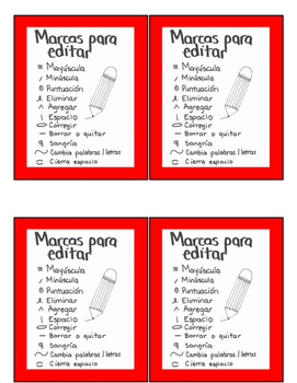 Editing Marks in Spanish and English
