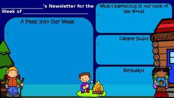 Editable Newsletter Camp Theme