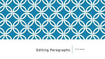 Editing Paragraphs