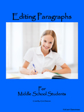 Editing Paragraphs for Middle School Students