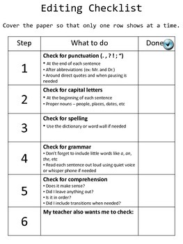 Editing & Peer Review Checklists