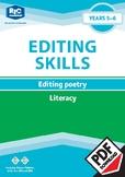 Editing Poetry —Years 5 — 6 ebook