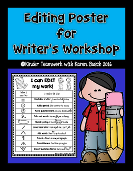 Editing Poster for Writer's Workshop {Forever Free}