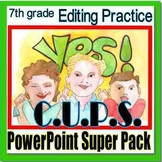 Editing Practice, PowerPoint Super Pack, 7th grade