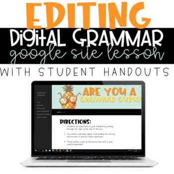 Editing Practice Grammar Google Site