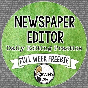 Daily Editing Practice - Full Week FREEBIE