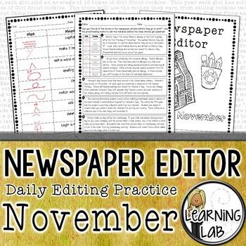 Editing Practice - November Edition