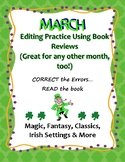 St Patrick's or March Editing Practice Using Book Review Passages 6-8