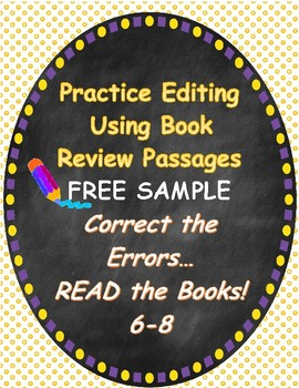 Editing Practice Using Book Reviews FREE Sample