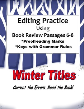 Editing Practice Using Book Reviews: Winter Titles 6-8