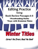 Editing Passages Using Book Reviews Winter Titles 6-8