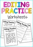 Editing Practice Worksheet