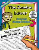 Editing Grammar Practice - Zombie Newsletters, Common Core Aligned