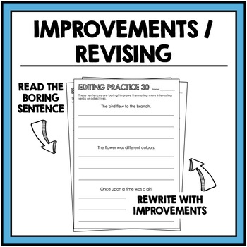 Editing Practice - corrections and improvements - writing development