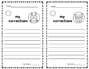 Editing Practice for 2nd & 3rd Grade
