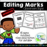 Editing-Proofreading Mark Classroom Signs UPDATED
