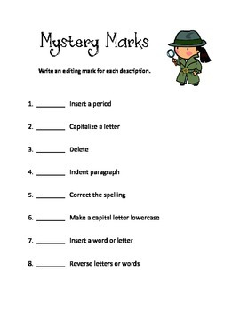Editing (Proofreading) Marks Activity