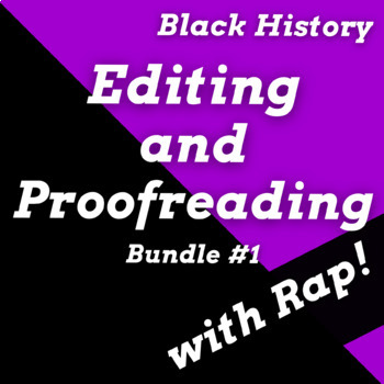 Editing and Proofreading Worksheets with Passages Using Black History Songs