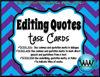 Editing Quotes Task Cards