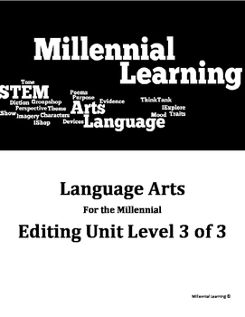 STEM English: Editing Review With Included Manual Level 3