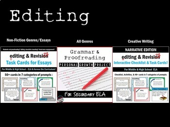 Editing & Revising Bundle: Lessons, Activities, & Assessments for Writing!