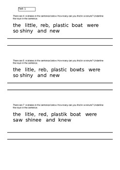 Editing SPAG in KS1 Primary English