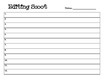 Editing Scoot