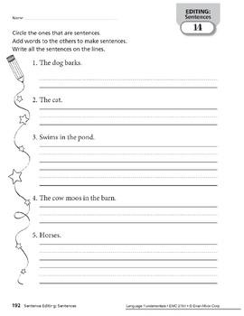 Editing: Sentence Editing