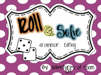 Editing Sentence Roll & Solve Game