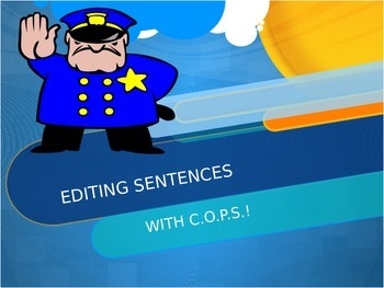 Editing Sentence with COPS PowerPoint