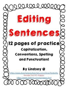 Editing Sentences 2nd - 4th