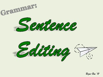Editing Sentences NO PREP