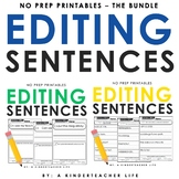Editing Sentences Bundled
