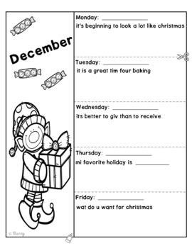 Editing Sentences - December