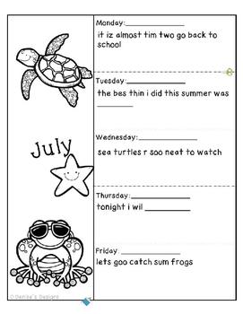 Editing Sentences - July