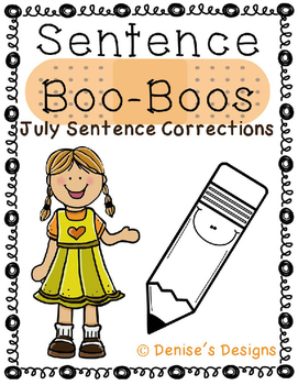 Editing Sentences - July
