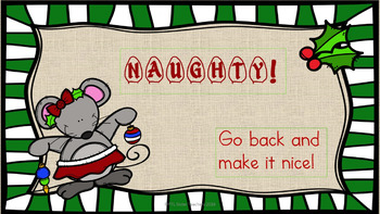 Editing Sentences PowerPoint Game and Printables! Naughty or Nice? EDITABLE!