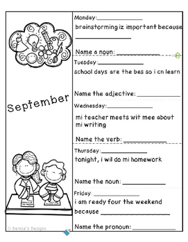 Editing Sentences - September