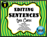 Editing Sentences Task Cards - Set 1