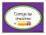 Editing Sentences in Spanish